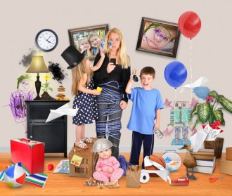 Don't be this mom. Charlotte Avery helps you de-stress your holidays in six ways