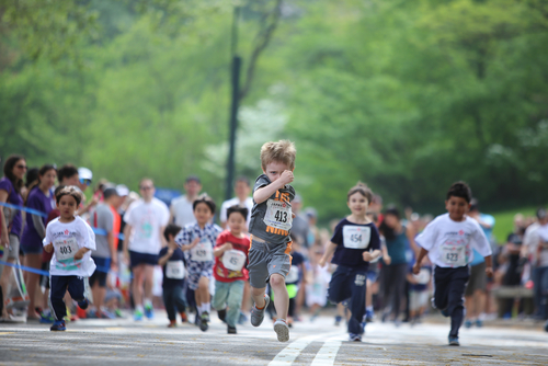 Kids Running in a Race
