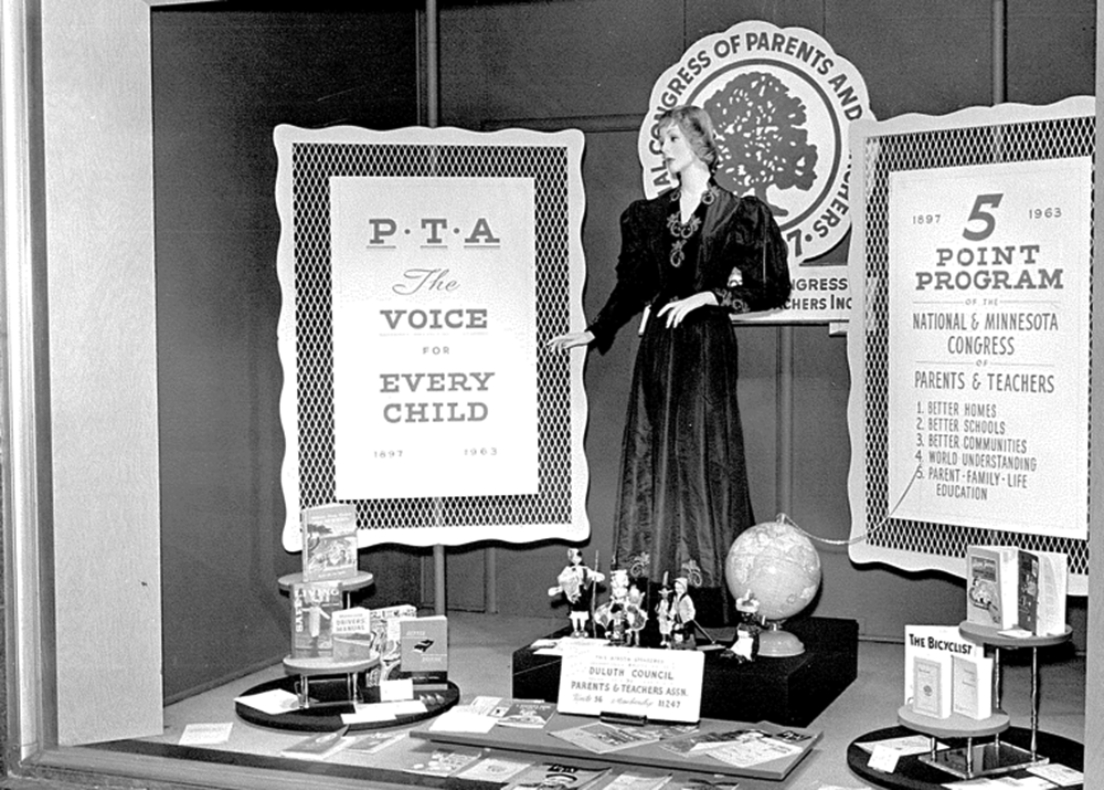 The Duluth Council of PTA Exhibit Window