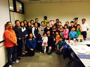 Vietnamese-speaking parents celebrate graduation from California State PTA's School Smarts Parent Engagement Program in Alameda Unified School District.