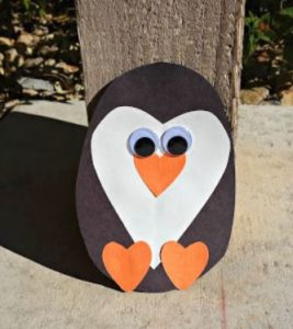 Heart Penguin Family Winter Craft