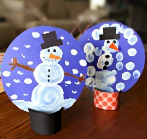 Pom Pom Snow Globes Family Winter Craft