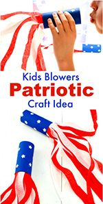 Patriotic-Kids-Blower Craft