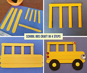 School Bus Craft Four Steps