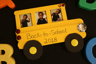 School Bus Photo Craft