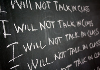 School Discipline: Detention - I will not talk in class