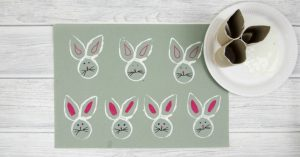 toilet roll bunny stamp easter passover craft