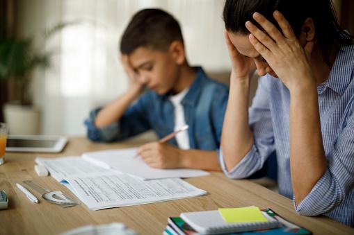 What ifs: Teenage boy having problems in finishing homework